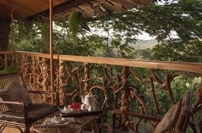 Terrasse im Tranquil Resort Kerala