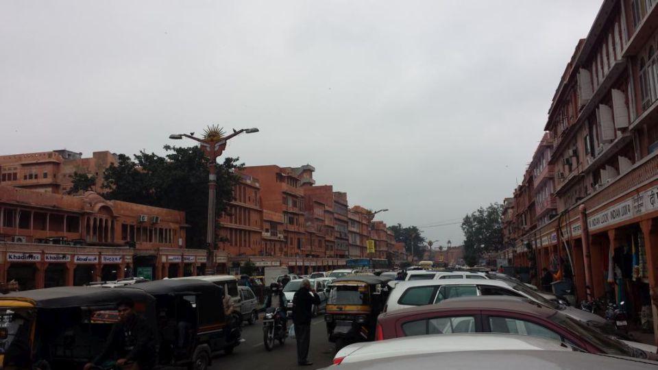 Indien Tour durch Rajasthan Jaipur Pinke Stadt