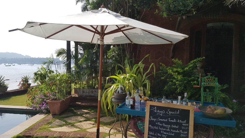 Bar at the pool Goa