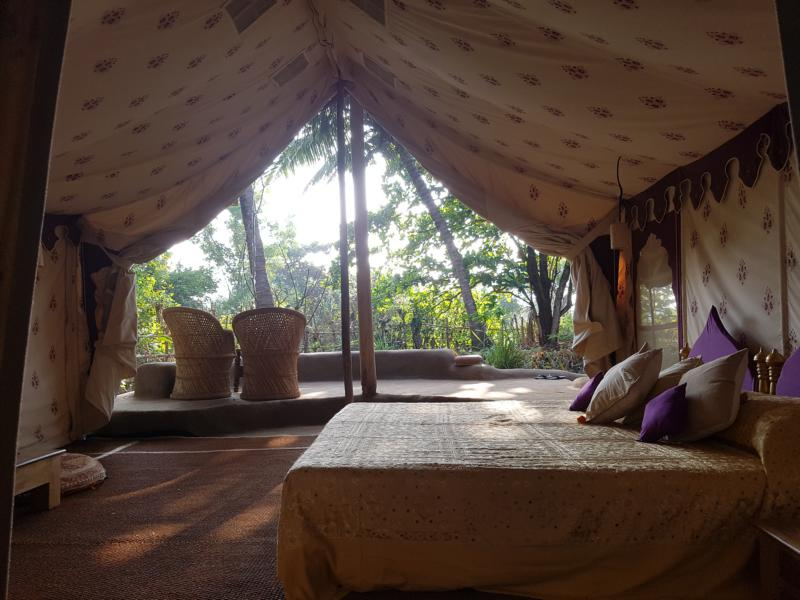 Ausblick vom Zelt