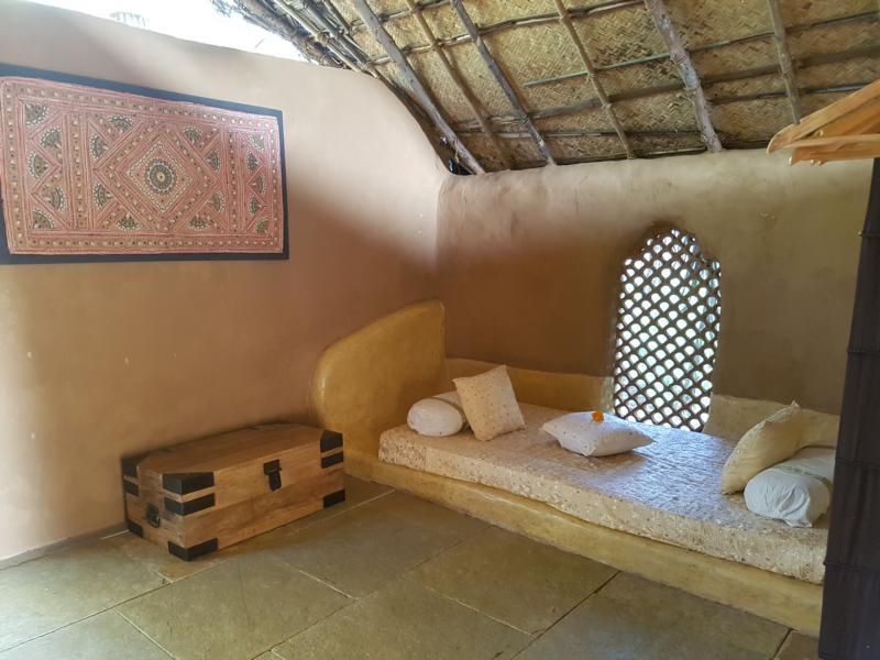 Hintere Sitzecke Yogamagic Ökoresort Anjuna Goa