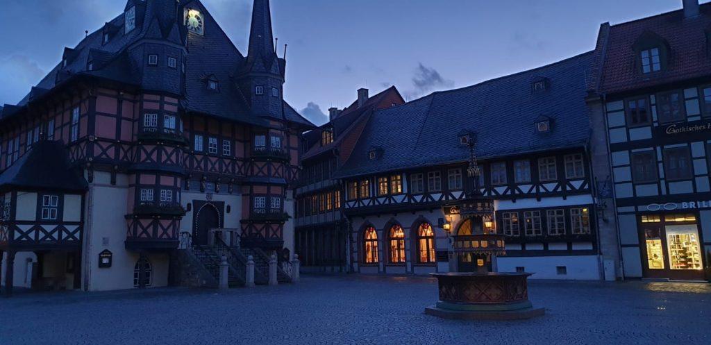 Gothisches Haus Wernigerode Dämmerung