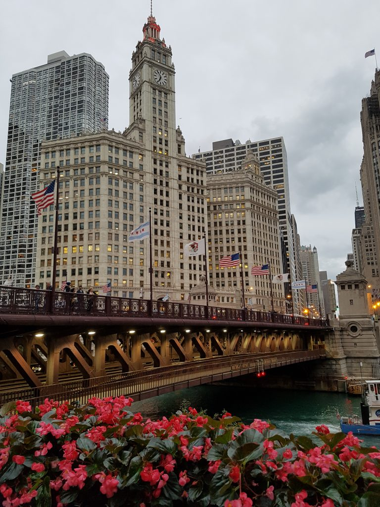 Wrigley Building Sommer in Chicago